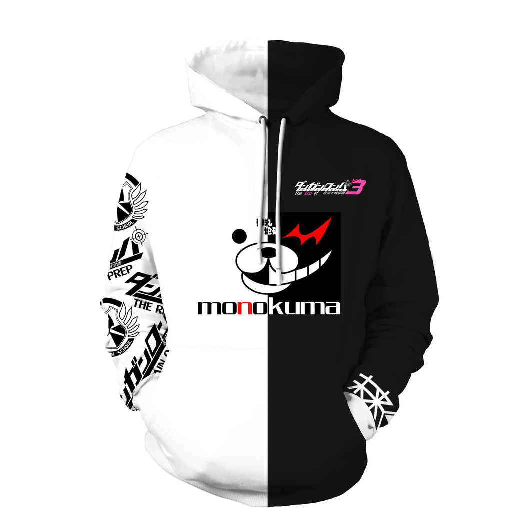 Danganronpa monokuma Sweatshirts Cosplay Costume Autumn Winter Fashion Jackets