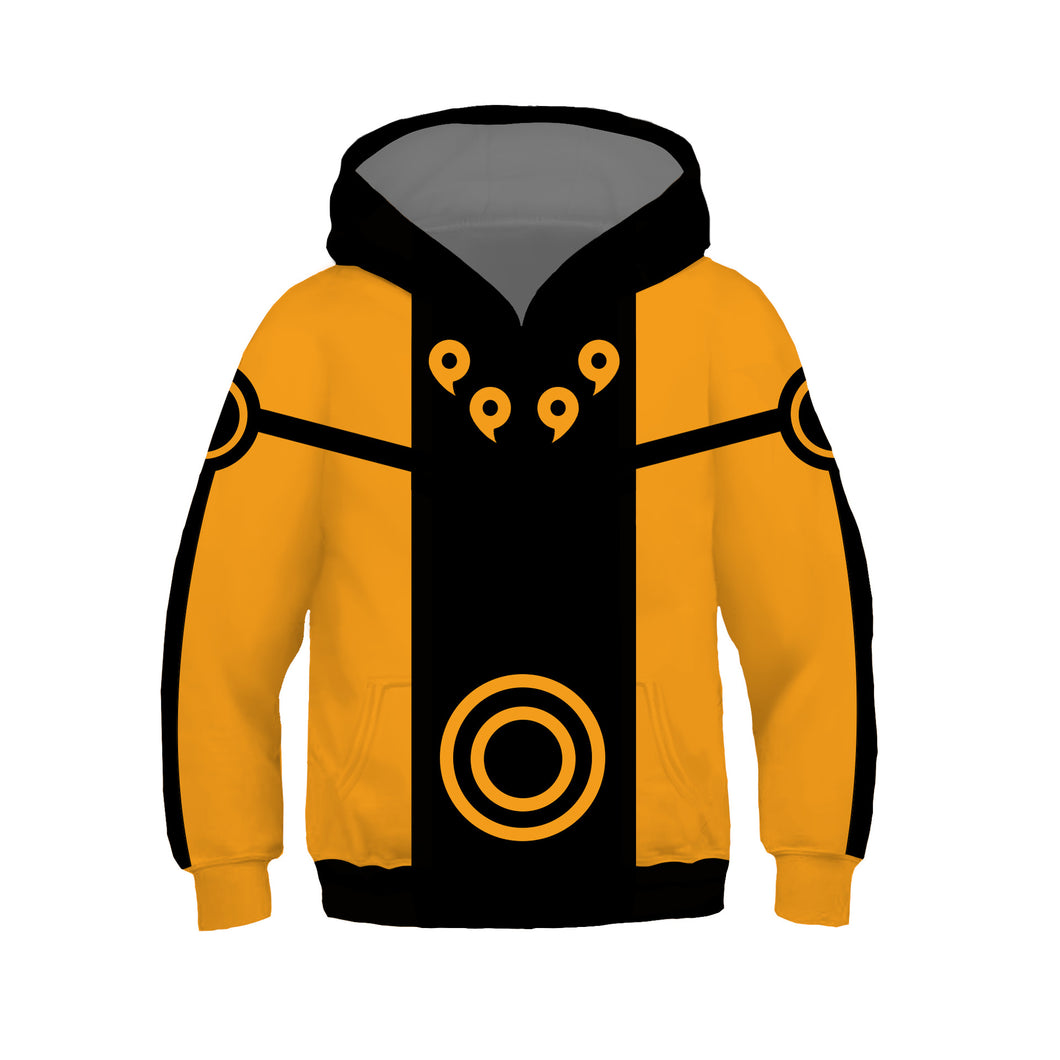 Anime NARUTO Uzumaki Cosplay Sweater Hoodie For Kids Boy