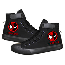 Load image into Gallery viewer, Marvel Deadpool Superhero  High Top Canvas Sneakers Cosplay Shoes For Kids