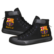 Load image into Gallery viewer, Barcelona Football Lionel Messi  High Top Canvas Sneakers Cosplay Shoes For Kids