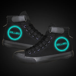 Anime DuRaRaRa High Tops Casual Canvas Shoes Unisex Sneakers Luminous