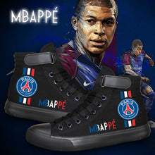 Load image into Gallery viewer, Paris Saint Germain Mbappe High Tops Casual Canvas Shoes Unisex Sneakers