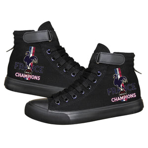 Paris Saint Germain Mbappe High Tops Casual Canvas Shoes Unisex Sneakers