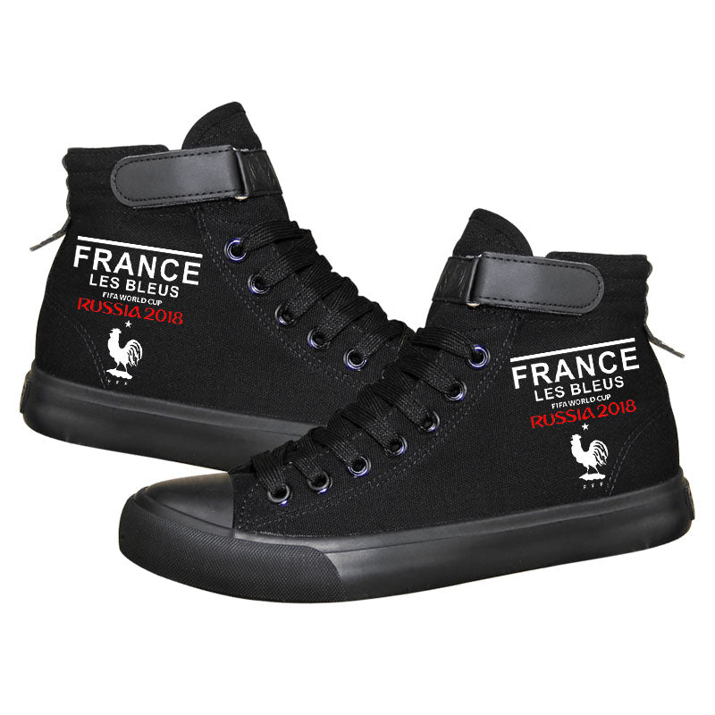 Paris Saint Germain Mbappe 10 High Tops Casual Canvas Shoes Unisex Sneakers