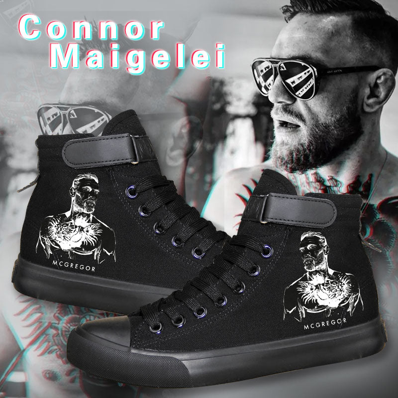 UFC Connor McGregor High Tops Casual Canvas Shoes Unisex Sneakers
