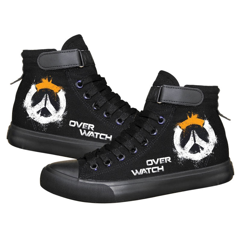 Game Overwatch Genji High Tops Casual Canvas Shoes Unisex Sneakers