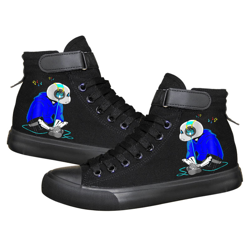 Game Undertale Sans High Top Sneaker Cosplay Shoes