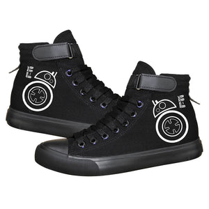 Star Wars Droid Robot BB 8 High Top Sneaker Cosplay Shoes