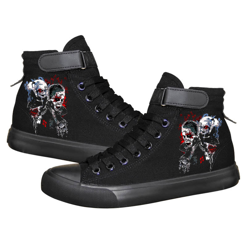 DC Comics Suicide Squad Harley Quinn High Top Sneaker Cosplay Shoes