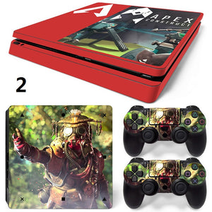 Game Apex Legends Skin For PS4 Slim Console +2Pcs Controller Protective