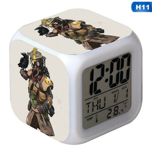 Apex Legends Square Figure LED 7Color Changing Night Light Alarm Clock Gift New