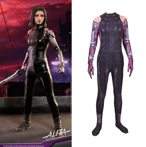 Alita Battle Angel Alita Cosplay Costume 3D Printed Jumpsuit Women Cosplay Costume Bodysuit