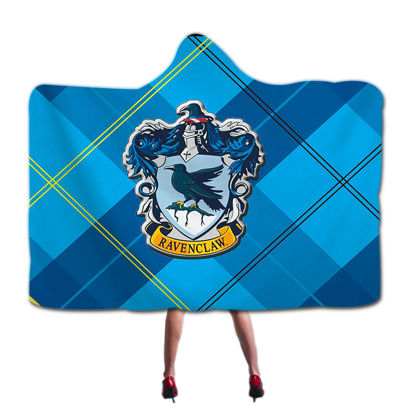 Harry Potter Ravenclaw Super Soft Cozy Throw Blanket In Cap Warm Blanket for Couch Throw Travel Hooded Blanket