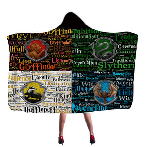 Harry Potter Super Soft Cozy Throw Blanket In Cap Warm Blanket for Couch Throw Travel Hooded Blanket