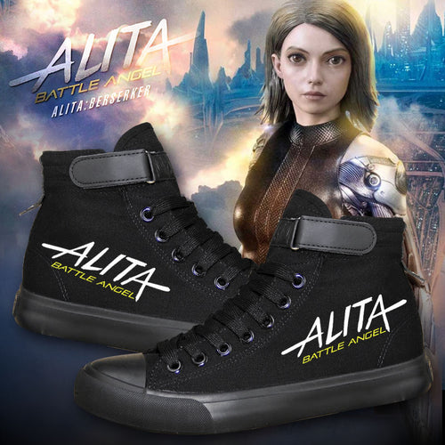 Movie Alita Battle Angel High Tops Casual Canvas Shoes Unisex Sneakers