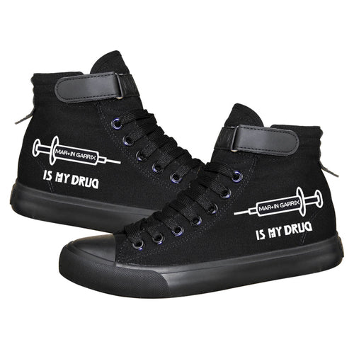 DJ Martin Garrix High Tops Casual Canvas Shoes Unisex Sneakers Luminous
