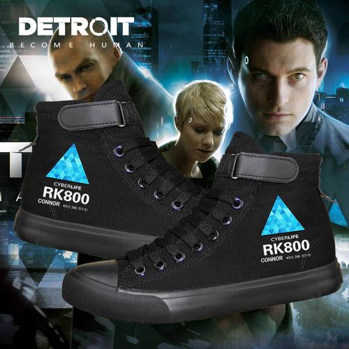Detroit Become Human High Tops Casual Canvas Shoes Unisex Sneakers