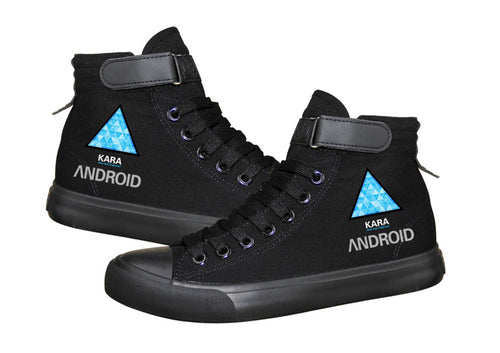 Detroit Become Human Kara Cosplay Shoes High Tops Casual Canvas Shoes Unisex Sneakers