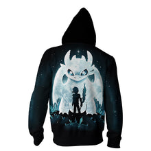 Load image into Gallery viewer, How to Train Your Dragon 3 The Hidden World Toothless Cosplay Costume Hooded Sweater Coat