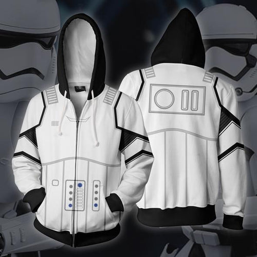 Star Wars Stormtrooper Cosplay Costume Hooded Sweater Coat