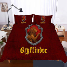 Load image into Gallery viewer, Harry Potter Gryffindor Duvet Cover Bedding Set Pillow Case