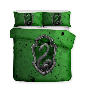 Harry Potter Slytherin Duvet Cover Bedding Set Pillow Case For Kids