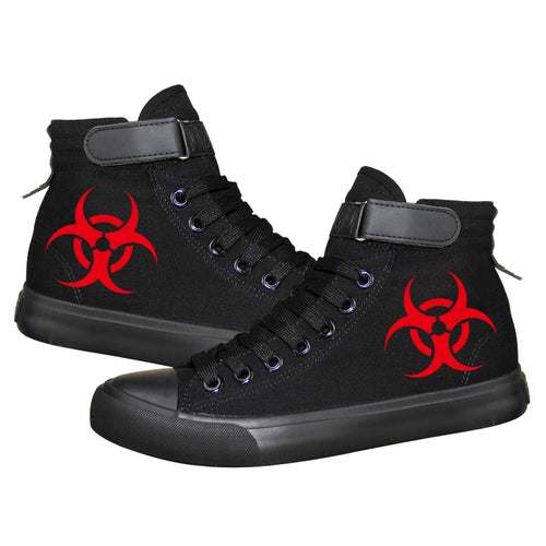 Movie Resident Evil Umbrella Corporation High Tops Casual Canvas Shoes Unisex Sneakers