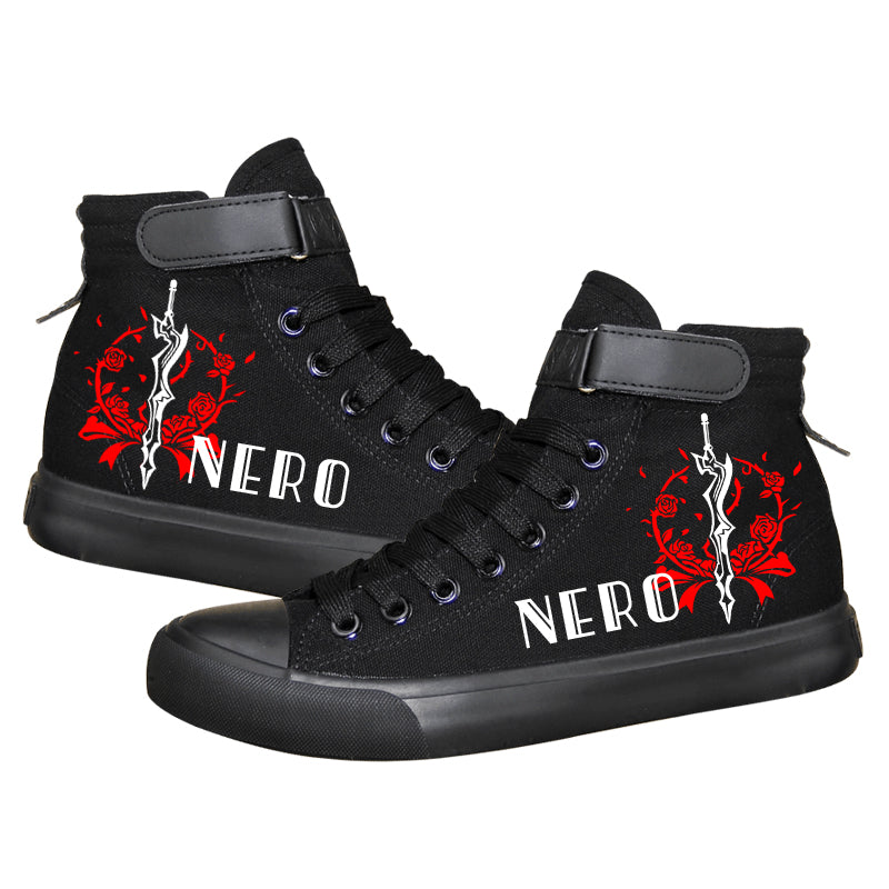 Fate Stay Night Saber High Tops Casual Canvas Shoes Unisex Sneakers