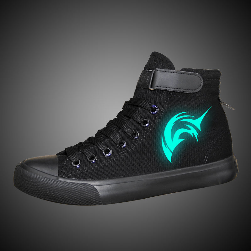 Fate Zero Saber High Tops Casual Canvas Shoes Unisex Sneakers Luminous