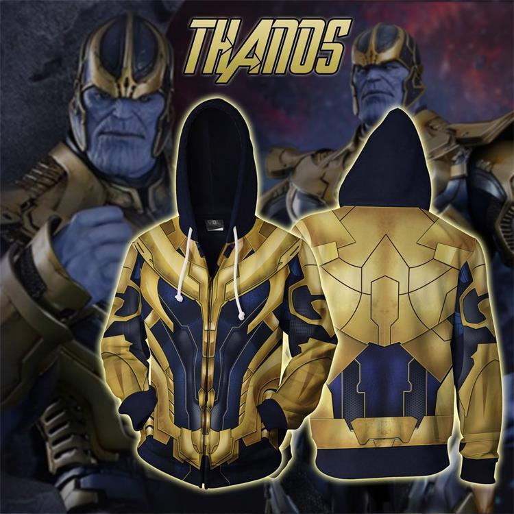 Avengers Endgame Thanos  Cosplay Sweater Jacket For Adults