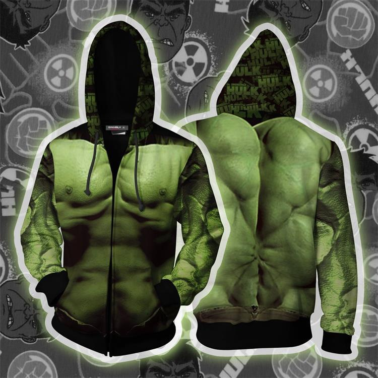 Avengers Endgame Hulk Cosplay Sweater Jacket For Adults