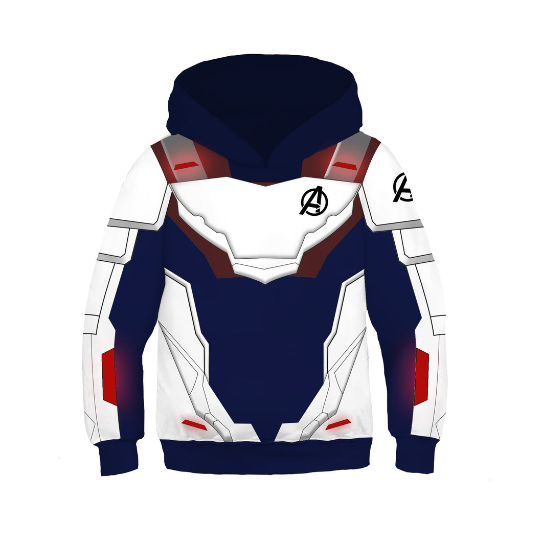 Avengers Endgame Quantum Realm Cosplay Sweater Hoodie For Kids Boy