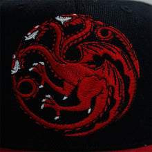Load image into Gallery viewer, Game of Thrones House Targaryen Cartoon Adjustable Baseball Cap Cosplay Hip Hop Hat