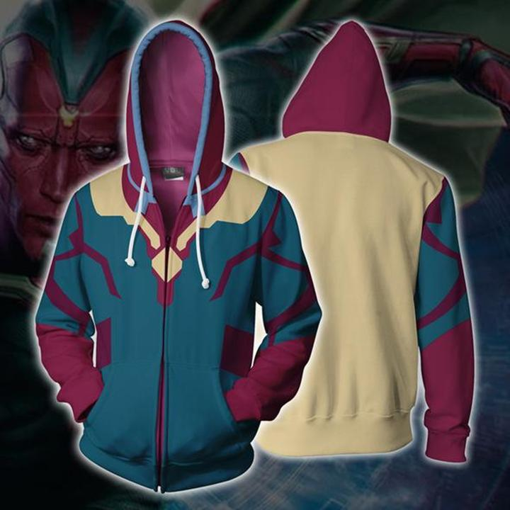 Avengers 4 Endgame Vision Cosplay Sweater Jacket For Adults