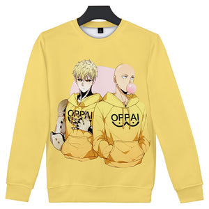 Anime One Punch Man Season 2 Sweatshirt Harajuku Streetwear Long Sleeve Shirt
