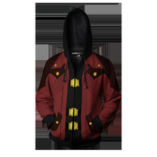Load image into Gallery viewer, Game Devil May Cry 3 Hoodie Sweatshirts Cosplay Costume Hooded Sweater Zipper Jackets