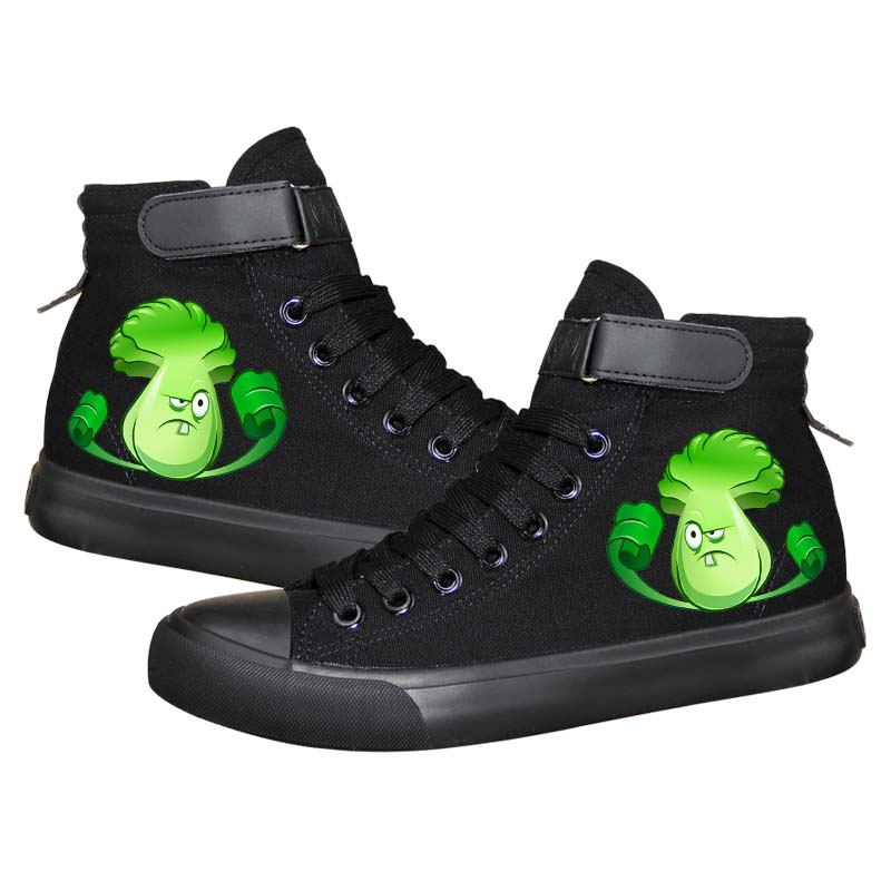 Game Plants VS Zombies High Top Sneaker Cosplay Shoes For Kids
