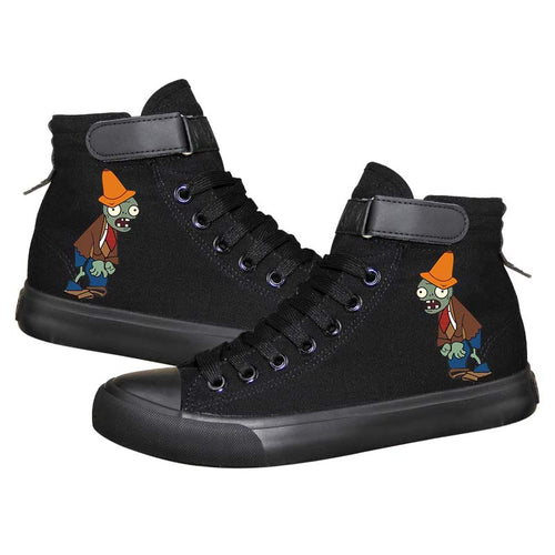 Game Plants VS Zombies 2 High Top Sneaker Cosplay Shoes For Kids