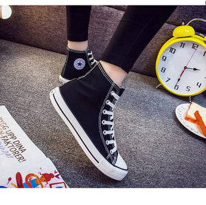 Kpop BTS High Tops Casual Canvas Shoes Unisex Sneakers