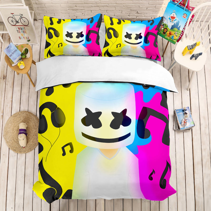 Marshmello 3D bedding Set Chris Comstock Duvet Covers Pillowcases Bedlinen Bag