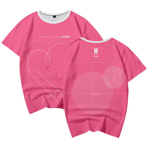 BTS Bangtan Boys New Album MAP OF THE SOUL PERSONA Fashion Men TEE Shirt