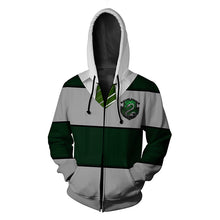Load image into Gallery viewer, Harry Potter Slytherin Cosplay Hoodie Sweatshirt Sweater Zipper Jacket Coat
