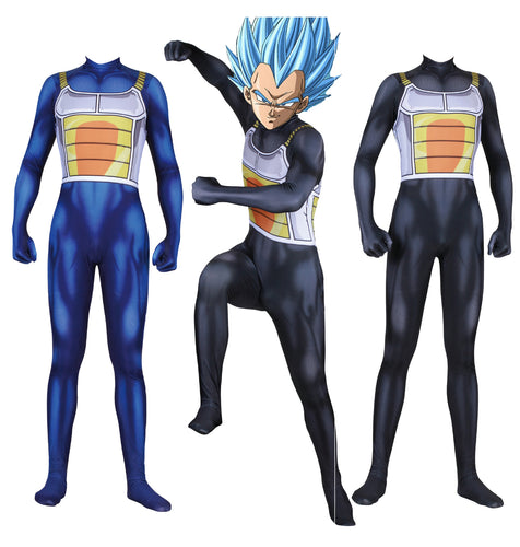 Dragon Ball Vegeta Spandex Jumpsuit Cosplay Costume
