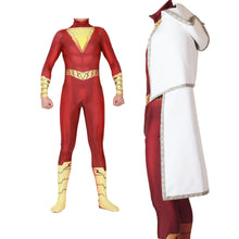 Load image into Gallery viewer, Captain Marvel Shazam Spandex Jumpsuits Cosplay Costume