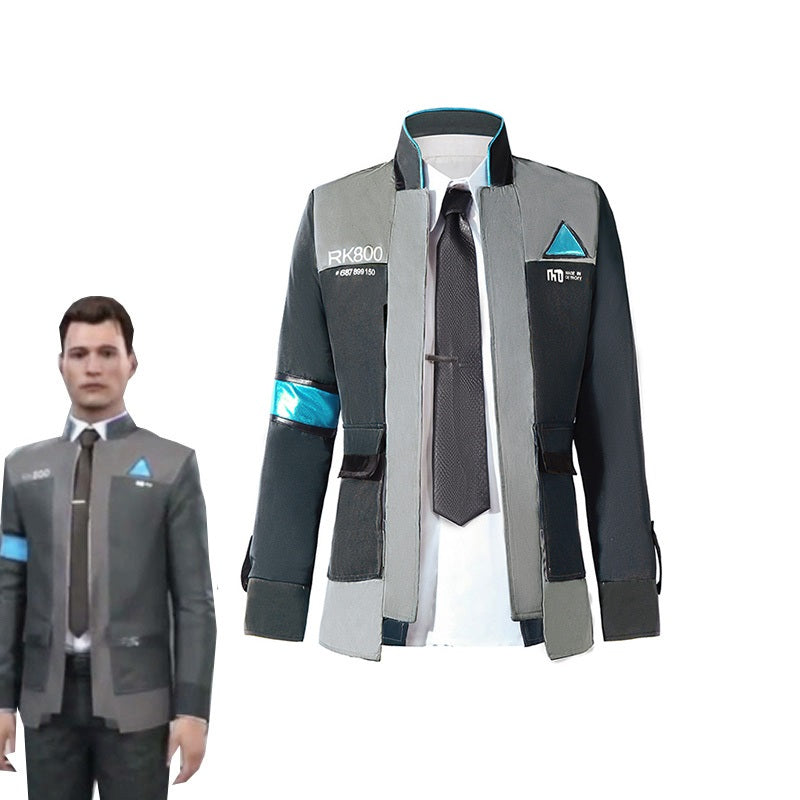 Game Detroit: Become Human Connor Cosplay Uniform RK800 Cosplay Costume Full Set