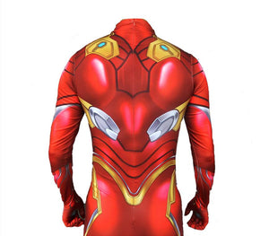Avengers Endgame Iron Man Cosplay Costume Zentai Spiderman Superhero Bodysuit Suit Jumpsuits