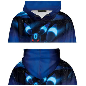 Umbreon Cosplay Costume Hoodie Couple Graphic Sweater Pullover Funny