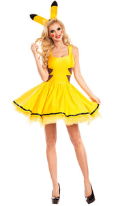 halloween costumes for women sexy plus size Pokemon pikachu costume Cosplay Christmas Party fancy Dress Animal adult Carnival
