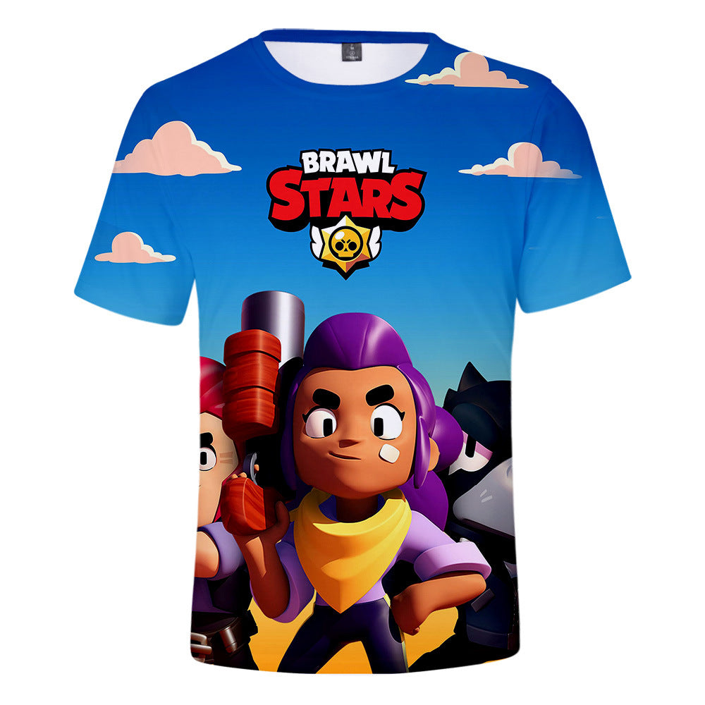 Game Brawl Stars 6 Modelos 3D Printed T Shirts Spring Tops Summer Tees For Adults Kids