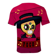 Load image into Gallery viewer, Game Brawl Stars Poco 3D Printed T Shirts Spring Tops Summer Tees For Adults Kids